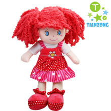 wholesale Wool hair soft baby doll plush toys rag dolls
