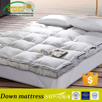 Sufang brand hotel supply / 2 layers 10cm height microfiber down filling mattress topper / pad