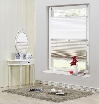Perfect Fit Double Pleated Blind,Window Treatment For Sliding Glass Window
