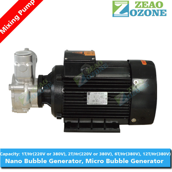 Micro nano bubble generator ozone water mixing pump for aquaculture water treatment