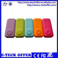 2015 new style portable power bank, factory price mobile phone charger 5200mah