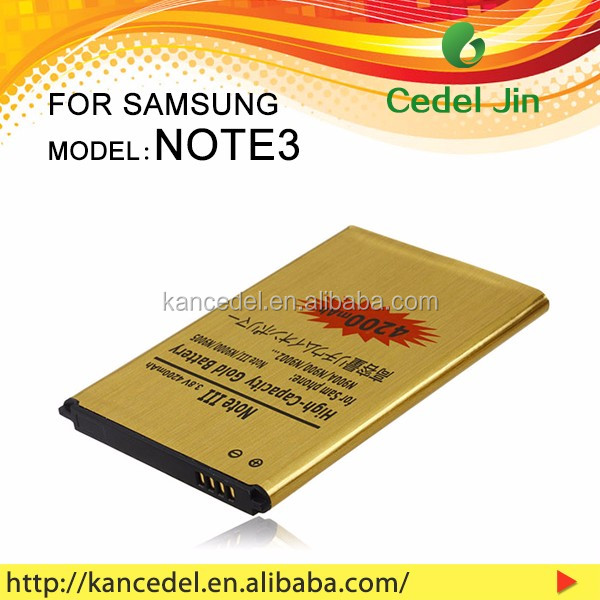 EB-B800BE battery for Samsung Galaxy Note 3 N9000 mobile battery