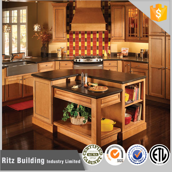 Kitchen decoration cherry solid wood kitchen cabinets
