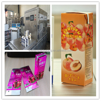 Colunte Aseptic roof shape carton box filling packing machine