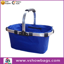 hot sale fabric shopping basket collapsible market basket wholesale