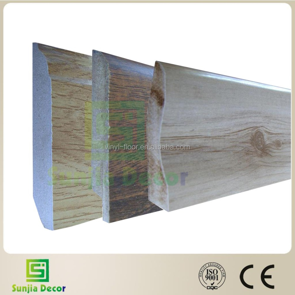 Laminated skirting board/ Baseboard moulding for flooring