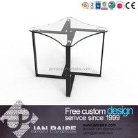 Square tempered glass coffee table , use for home/cafe/outdoor furniture