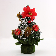 Decorating Mini Colorful Desk Christmas Tree for Home Office Bedroom Living Room