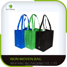 6 Colors Non-woven Reusable Kids Carrying Shopping Grocery Tote Bag for Party Favor in Retail Packaging