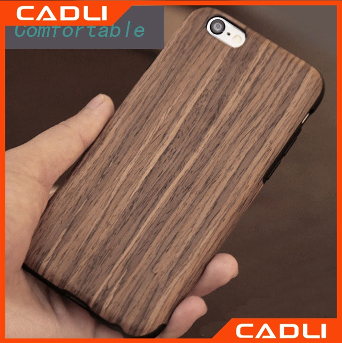 China Real wood+soft TPU mobile phone case for iPhone 7 case