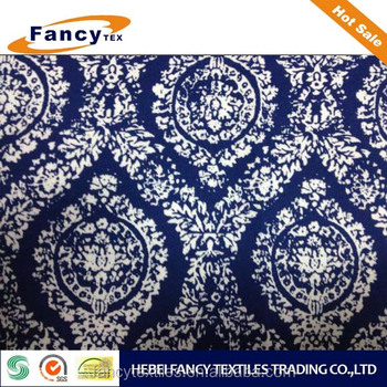 100%C 20X20 108X58 5758 190GSM BLUE FLOWER PRINTED FABRIC