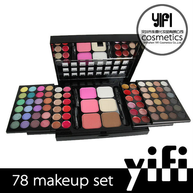 Cosmetic factory wholesale excellent customized mixed OEM makeup palette