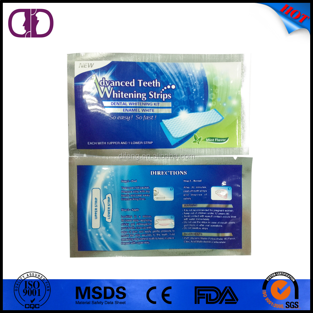 advanced non peroxide home teeth whitening strips oem