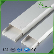 Zhe Jin Pvc Floor Supply Electric White Plastic Wire Duct Industrial Cable Duct