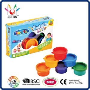 6 COLOR 35ML FINGER PAINT SET IN WINDOW BOX