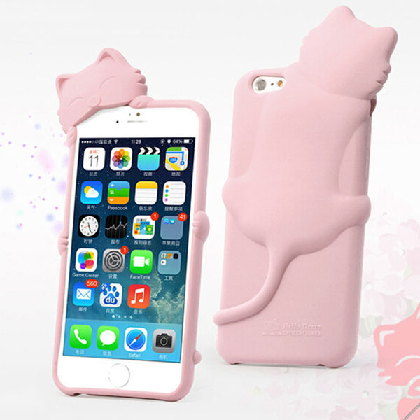 For Apple iPhone 6 3D Cute Diffie Cat Soft Silicone Case