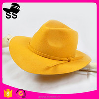 Top new free crochet cowboy hat pretty design party hat wholesale synthetic wool felt hat