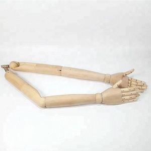 Fashion Natural Wood Color Lotus Wood DL706 Male Mannequin Arms For Sale