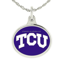 Trendy Sterling Silver Necklace Design Texas Christian TCU Jewelry Wholesale