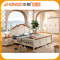Bedroom Set Picture Provided New Mediterranean Style wooden bed models