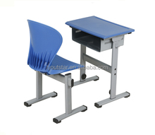 China Furniture Plastic Cheap Primary School Children Study single desk and chair