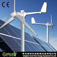 POPULAR ! 240 volts 5kw Wind Turbine Generator for house use off grid system , easy installtion, low noise/rpm/speed