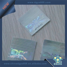 coupon gift anti-counterfeiting ticket printing stamp 3d hologram sticker