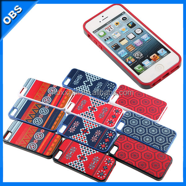 PC TPU 2 IN 1bohemian style mobile phone case for iphone5(OBS-PG-SL53003)