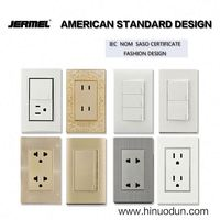 Power supply jerme special design three switches one gang two way wall switch with indicator light