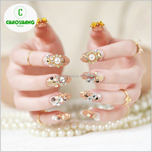 24pcs/box DIY 3D False Nails Art Tips Fake Nail Artificial Nails