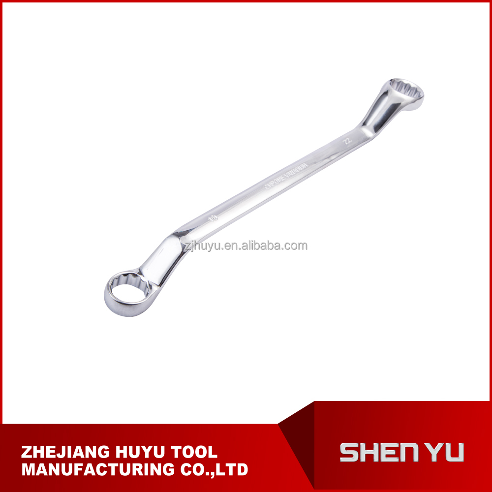Chrome vanadium box wrench, double ring offset wrench