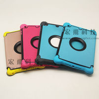 PU leather case for apple ipad mini retina with folding stand protective shell cover