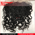 Vipsister Hair Indian wavy lace frontal pre plucked frontal piece with bundle