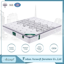 Convenient bed size roll compressed soft visco rolled memory sponge foam mattress wholesale