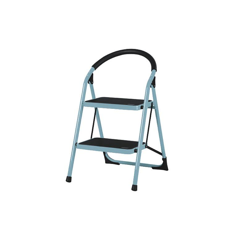 AP-1102A kitchen 2 step chair steel ladder with cotton bar handle