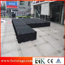 Portable event stage setup for event