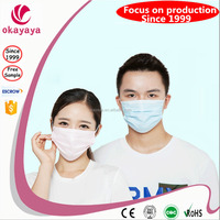 Disposable medical surgical face mask with ear loop