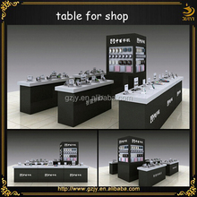 professional high-end glass store mobile phone display showcase and mobile phone shop interior design for retail shop