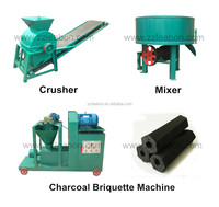 No Smoke Charcoal Coal Powder Briquette Extruder Machine
