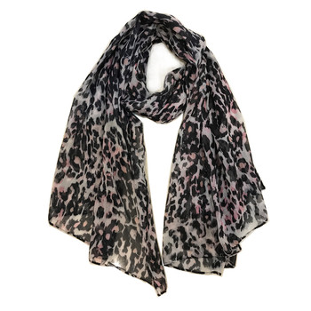 leopard printing polyester scarf