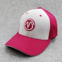 Custom Cotton Pink Curved Brim 6 panel Adjust Golf Baseball Ball Cap