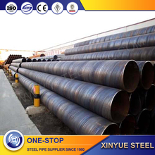 ssaw 3 layer pe coated steel pipe, spirally welded steel pipe, spiral steel pipe with black coated