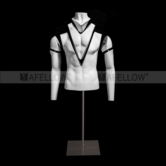 Ghost Mannequin MAN Upper Body Base with Wheels Version 1.0 GH17