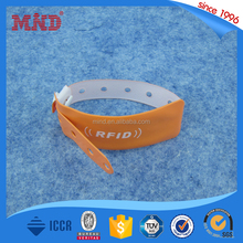 MDW16 RFID disposable dupoint paper wristbands Ntag213 / Ntag216 nfc 13.56 mhz bracelet