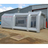 Hot sale custom used portable car tent inflatable spray paint booth for car