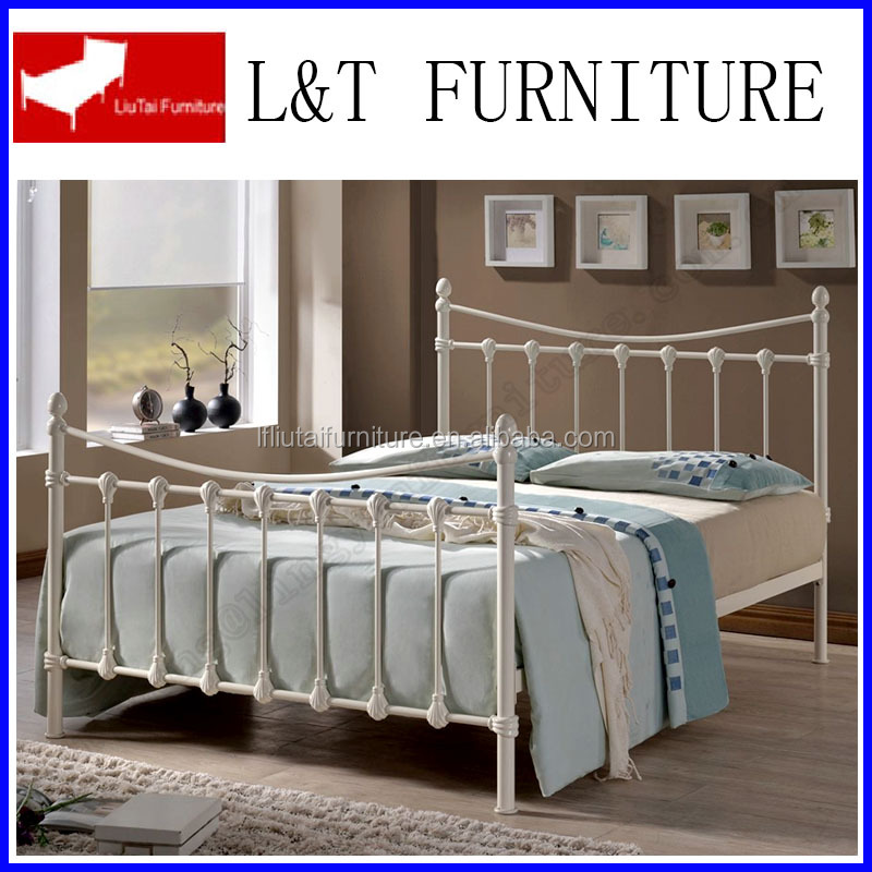 turkish style hotel bed bedroom furniture white metal bed