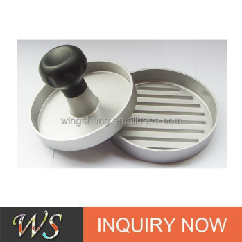 WS-DW01 New Design Aluminium Hamburger Press With TPR Handle