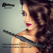 interchangeable ceramic infrared hair curler iron