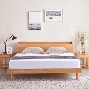 2019 Hot Sale Nordic Modern Style Bedroom Furniture King Size Wooden Bed