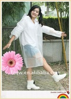 fashionable long raincoat pvc rain poncho